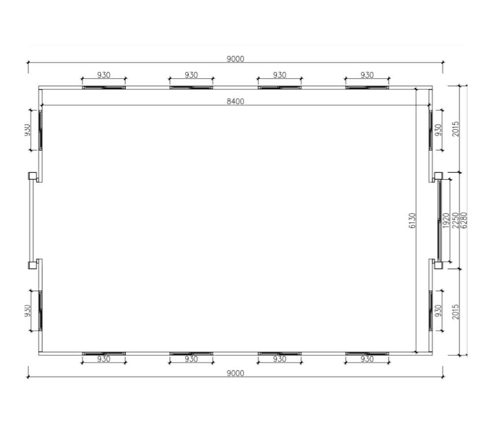 30ft blank layout