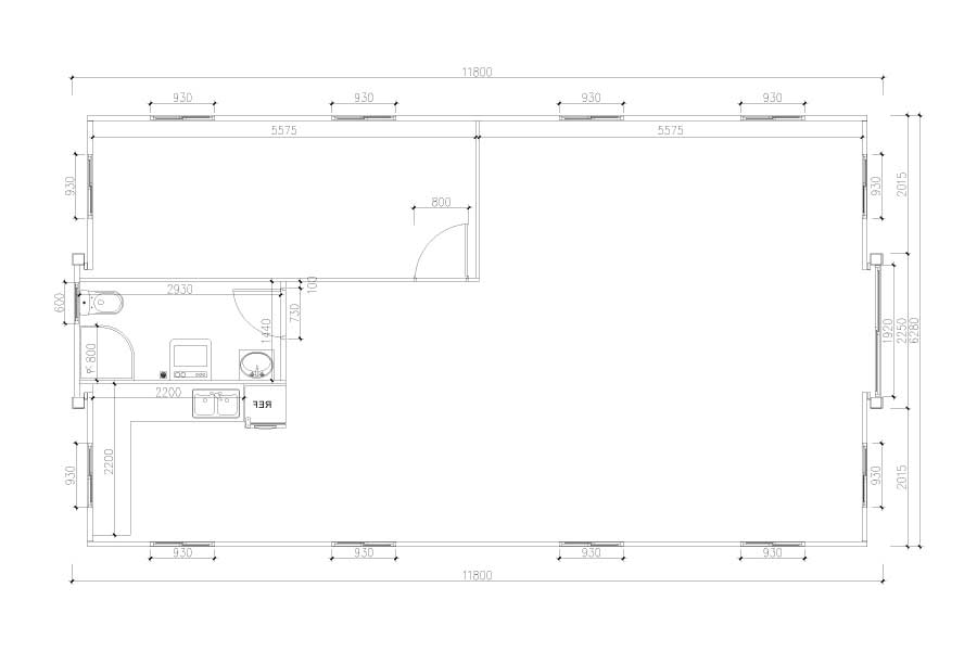 40ft-1-bedroom-layout